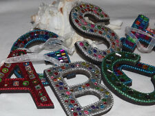 Monogrammed Jeweled Letter Ornaments