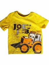 JOEY JCB:2014 BRAND NEW YELLOW T SHIRT,12-18M,18/24M,2/3,3/4,4/5YR,NEW WITH TAGS