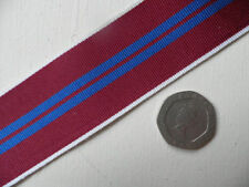QE II, Coronation Medal. Replacement Ribbon, Full Size [32mm]. Free Postage.