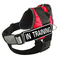 Reflective Service Dog Vest Padded Removable Chest Plate Harness Velcro Patches