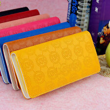 NEW Stylish Prints Lettering Purse Women Leather Wristlet Wallet for Iphone USSP