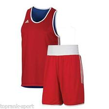 Adidas Reversible Mens womens Punch Boxing Vest & Shorts Set - Blue/Red