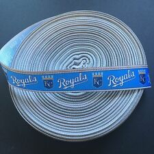 "7/8"" KC Kansas City Royals Border Grosgrain Ribbon by the Yard (USA SELLER!)"
