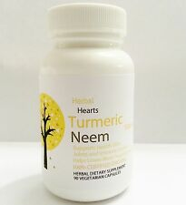 Tumeric and Neem 1000 mg-Highest Strength!120 Capsule-100% Organic-Herbal Heart