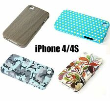 For Apple iPhone 4 4S - HARD PROTECTOR SNAP ON SKIN CASE COVER ACCESSORY