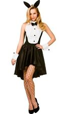 Bunny Girl Hostess Sexy Tuxedo Play boy Ladies Fancy Dress Costume XS  to XL