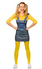 Mischievous Worker Minion Mischevious Ladies Fancy Dress Costume XS  to XL