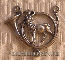 Rosary Parts Center St Hubert Hunting Horn Hunters Sterling Silver Bronze #035