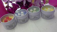 Handmade Scented Soy Wax Candle Tin 85g Burn Time 25 hrs (fragrances A to I)