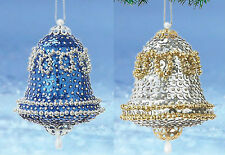 kit makes 2 Vintage Bell Ornaments  Christmas  Beads, Sequins, pins  Craft NEW