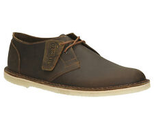 Clarks Originals Mens Jink Beeswax Leather Brown Lace Up Shoe