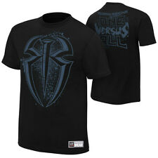 WWE AUTHENTIC Roman Reigns ONE VERSUS ALL Mens Black  T-Shirt - BRAND NEW