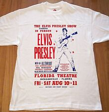 Elvis Presley Show Jacksonville Florida Poster T Shirt Rock And Roll Icon S-XXL