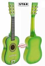 """Child's 23"""" Toy Wooden Acoustic Guitar With string and Pick. U202"""