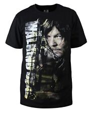 High quality New Black Cotton  daryl dixon T-shirt for the walking dead season 5