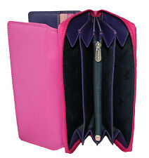 NEW WOMENS LARGE LEATHER VISCONTI PURSE/WALLET STYLE RB78  RAINBOW COLLECTION