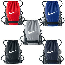 NIKE SWOOSH BRASILIA Drawstring Backpack School Pool Gym Beach Sack Bag