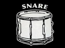 Snare Mens T-Shirt ----- Band - Drumline - Marching - Drums - Drummer - Music