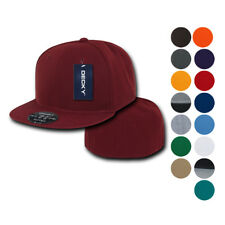 6 Pack Retro Fitted Flat Bill Baseball Hats Hat Caps Cap Decky Blank Wholesale