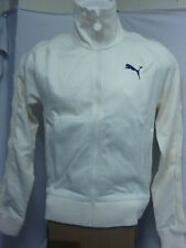 PUMA HEROES  . MENS LIMITED EDITION PELE  T-7 CABLE JACKET IN CREAM/WHITE