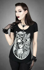 T-SHIRT |  ROCOCO CAT LADY* [LAST ONE - SIZE XS] RESTYLE clothing alternative go