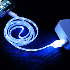 Visible LED Light USB Data Sync Charger Charging Cable Cord fo Mobile Cell Phone