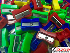 PLASTIC PENCIL SHARPENERS - VARIOUS COLOURS - VAT INC. GREAT PRICE & FREE P&P!