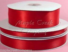 Double Face RED 100% Polyester Satin Ribbon Assorted Sizes