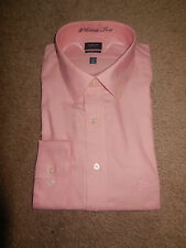 Arrow men's classic fit Heritage Twill dress shirt (various sizes, coral peach)