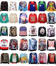 Adventure Time Print Pullover Sweatshirt LC25293 women print casual 2014 winter