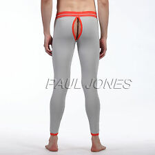 New Sexy Men's Hollowed Long Johns Underwear Pants Penis Pouch Bottoms Size M~XL