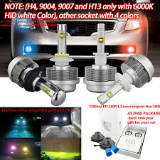 2015 2S 8000LM LED Headlight Kit H1 H3 H6 H4 H7 H8/H11 H9 H10 H13 9005 + CANBUS
