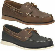 PORT VIEW MENS CLARKS MAHOGANY NAVY LEATHER LACE UP SLIP ON MOCCASIN DECK SHOES