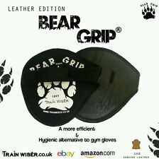 Bear Grip-Leather Gym weight lifting gloves/grips