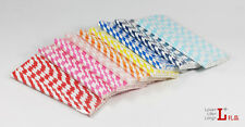 25 x STRIPED PAPER DRINKING STRAWS FOR PARTY TABLE DECORATIONS pick you love