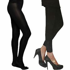 WOMENS LADIES THICK FLEECE LINED FULL LENGTH THERMAL WINTER TIGHTS WARM