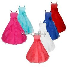 Flower Girl Princess Toddler Kid Bow Party Pageant Wedding Bridesmaid Tutu Dress