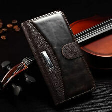 For iPhone 5 5S New Luxury Leather Wallet Case Flip Stand Credit Card Cover Skin