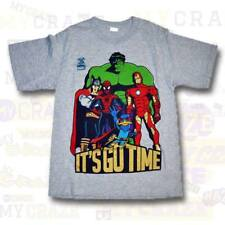 MARVEL It's Go Time Spiderman Hulk Thor Iron Man Boys Youth T-Shirt