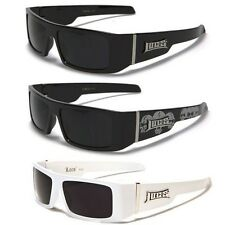 Mens Square Frame Gangster Skull Shades OG Locs Super Dark Lens Black Sunglasses