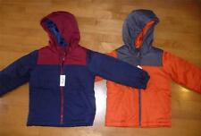 NWT Boys the CHILDREN'S PLACE Puffer Jacket Coat Size Med 7/8 Navy Orange Hood