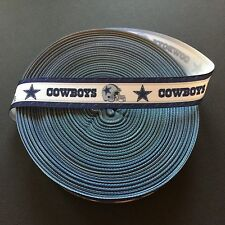 "7/8"" Dallas Cowboys Border Grosgrain Ribbon by the Yard (USA SELLER!)"