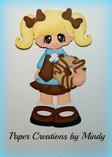 Craftecafe Mindy Girl Scouts Brownie girl  premade paper piecing scrapbook page