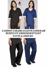 STYLIST GROOMER BARBER Hair,Water&Stain Resistant SMOCK&PANT Shirt Trouser Scrub