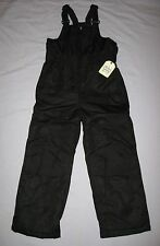 NEW Snowboard SNOW PANTS SKI BIB Suit Boys Girls size S( 6- 7) M( 8)  NWT Black