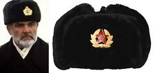 RUSSIAN STYLE MILITARY WINTER HAT WITH BADGE & EAR FLAPS USHANKA Connery October