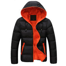 Young Men's Winter Jacket College Boy's Outwear Padded Coats Slim Parka Tops New