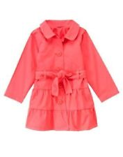 NWT GYMBOREE BURST OF SPRING CORAL TRENCH COAT XS(3-4), S(5-6), M(7-8)