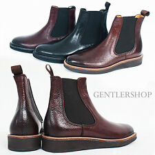 Mens Shoes Leather Chelsea Dealer Boots Dainite Sole HANDMADE 4092, GENTLERSHOP