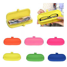 Lovely Silicone Pouch Purse Wallet Glasses Cosmetic Cellphone Bag Case